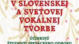 Vianočný čas v slovenskej a svetovej vokálnej tvorbe
