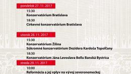 Prehliadka mladých slovenských organistov v dňoch 27.-29.11.2017
