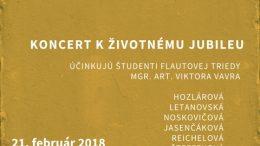 Koncert k životnému jubileu prof. Viktora Vavra